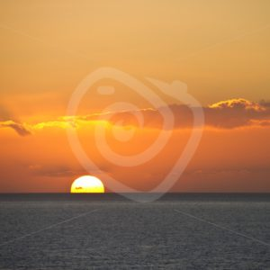 Sunset over the ocean - Nature Stock Photo Agency