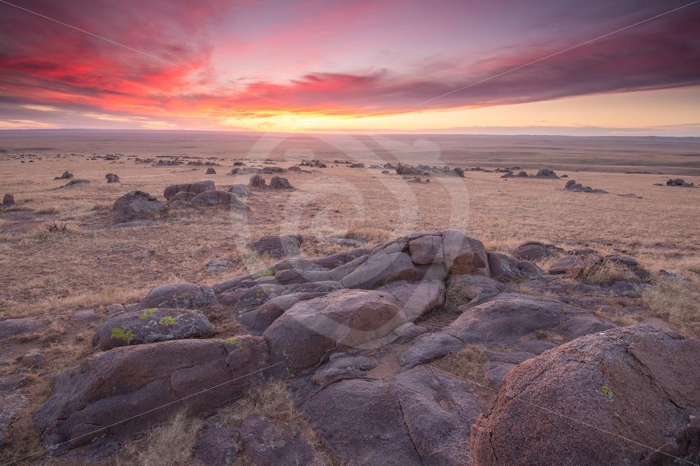 Mongolian sunset landscape - Nature Stock Photo Agency