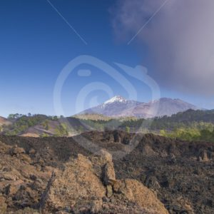 Lava landscape with Mount Teide on Tenerife - Nature Stock Photo Agency