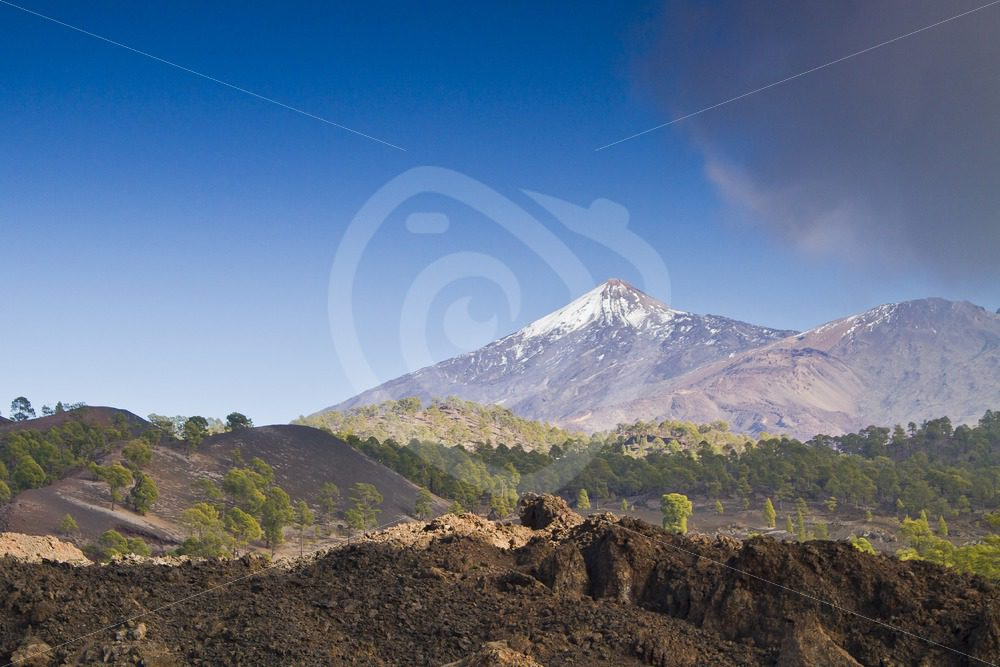 Mount Teide with dark clouds coming - Nature Stock Photo Agency