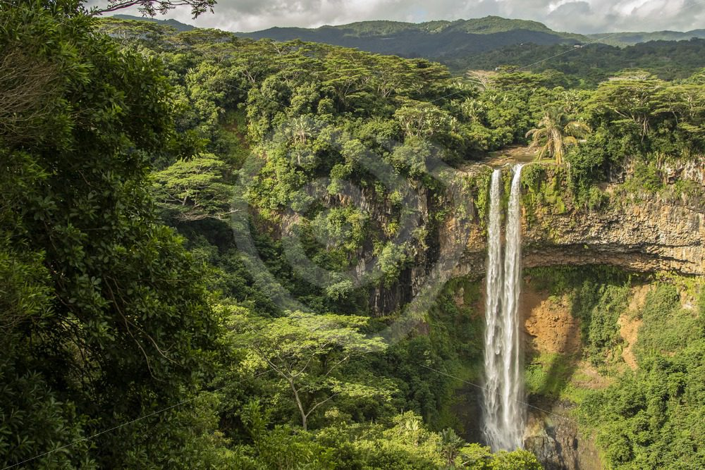 Waterfall in Mauritius - Nature Stock Photo Agency